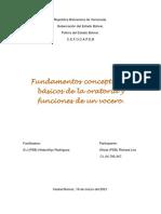 Fundamentos conceptuales básicos de la oratoria y funciones de un vocero.