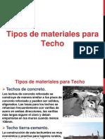 Tipos de Materiales Para Techos