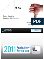 The Power of No - 2011 Productivity Series