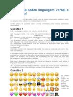 Exercícios Sobre Linguagem Verbal e Não Verbal1