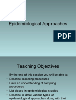 Epidemiological approaches