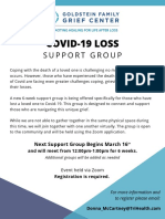 COVID Loss Support Group