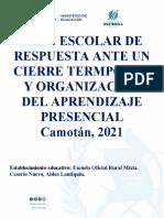 Plan Escolar de Respuesta Caserío Nuevo Lantiquín Corregido