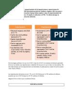 comportamiento de las importaciones y exportaciones de Colombia durante el año 2019