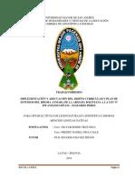IMPLEMENTACIÓN Y ADECUACIÓN DEL DISEÑO CURRICULAR Y PLAN DE ESTUDIOS DEL IDIOMA AYMARA DE LA ARMADA BOLIVIANA A LA LEY Nº 070 AVELINO SIÑANI – ELIZARDO PEREZ
