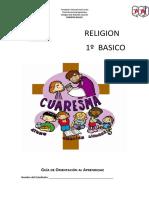 RELIGION GUIA DE APRENDIZAJE CORONAVIRUS