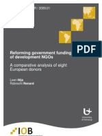 Reforming government funding of development NGOs