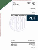 NBR 7181 (2016) - Solo — Análise granulométrica