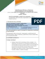Guia de actividades y rúbrica de evaluación - Unidad 1 y 2 - Fase 1 Conceptualizar sobre dirección, planificación y organización del talento humano