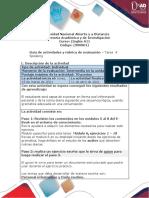 Guía de actividades y rúbrica de evaluación - Unidad 2 - Task 4 - Speaking