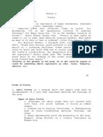 Module 6 Poetry