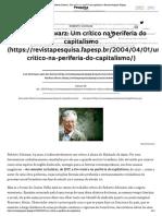 Um crítico na periferia do capitalismo