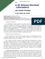 Manifesto da Aliança Nacional Libertadora