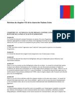 Révision Du Chapitre VII de La Charte Des Nations Unies