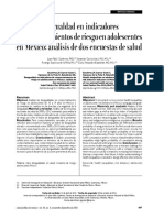 Desigualdad en indicadores de comportamientos de riesgo en adolescentes en México análisis de dos encuestas de salud