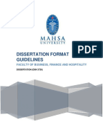 Dissertation Format Guidelines for MAHSA University