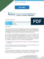 1_SILABO EVALUACIÓN DIAGNOSTICA PARA EL NIVEL PRIMARIA .  CURSO PERUEDUCA
