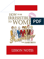 How to be irresistible to Women - workbook
