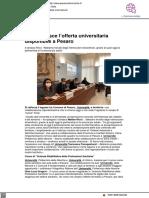 Si arricchisce l'offerta universitaria a Pesaro - Pesarourbinonotizie.it, 16 marzo 2021