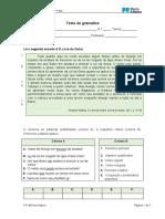 PT7 Teste Gramática 7 Ano