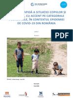 EVALUARE RAPIDĂ A SITUAȚIEI COPIILOR ȘI FAMILIILOR, CU ACCENT PE CATEGORIILE VULNERABILE, ÎN CONTEXTUL EPIDEMIEI DE COVID-19 DIN ROMÂNIA Runda 2