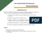 EXERCÍCIOS CLASSIFICAÇÃO PELO GRAU DAS CONTAS