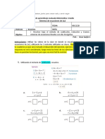 Guía sistemas de ecuaciones de 2x2