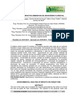 Analise dos Impactos Ambientais de um Incêndio Florestal