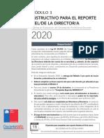 Instructivo Reporte Director Modulo 3 2020