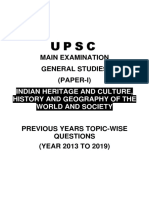 Raus IAS UPSC Mains Previous Year Topic-Wise Question Paper PDF