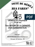 TP 1.2 condensateur (1)
