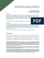 AS ORGANIZAÇÕES EDUCACIONAIS E A ISO 9001, CONFORME A NORMA BRASILEIRA ABNT NBR 15419 (SISTEMAS DE GESTÃO DA QUALIDADE)