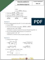 Devoir de Contrôle N°1 - Math - 3ème Sciences exp (2010-2011) Mr Nejah