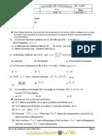 Devoir de Contrôle N°1 - Math - 3ème Sciences exp (2010-2011) Mr sola saidi