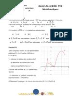 Devoir de Contrôle N°1 - Math - 3ème Sciences exp (2010-2011) Mr kayel