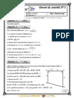 Devoir de Contrôle N°1 - Math - 3ème Sciences exp (2010-2011) Mr chortani atef