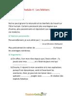 Cours - Français Les Métiers ( Argumentation ) - 9ème (2011-2012) Mr Ahmed Sfaxi