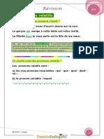 Cours - Français Module 3 Révision Langue - 9ème (2011-2012) Mlle Sarra 3