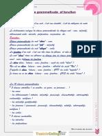 Cours - Français Fonction Et Classe Gramatical Rénvition - 9ème (2011-2012) Mme Sarra