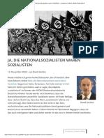 Ja, die Nationalsozialisten waren Sozialisten – Ludwig von Mises Institut Deutschland