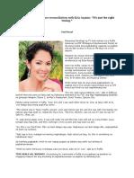 Ruffa Gutierrez on her reconciliation with Kris Aquino