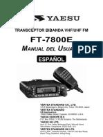 FT 7800E Spanish