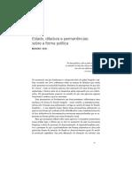 Estado, Ditadura e Permanencias Sobre a Forma Politica - Mauro Luís Iasi