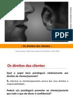 Ética e Deontologia Em Psicologia