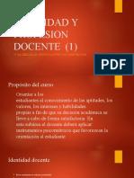 IDENTIDAD Y PROFESION DOCENTE