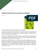 Psicologia Institucional e Psico-Higiene de José Bleger _ Psicologia