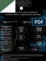 Componentes del examen mental para el análisis clínico y composición de patologías