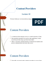 Lecture 10 - Content Providers