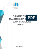 Fundamentos de Transferencia de Calor Teoria Ejercicios U1