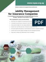 Asset Liability Management for Insurance Companies